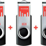 8GB Strontium Bold Pen Drive Pack of 3